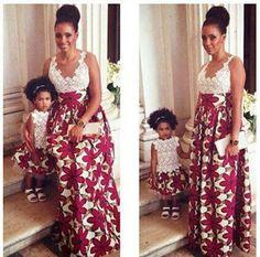 robe en # pagne et # dentelle mode africaine femme africaine dentelle ...
