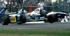 Championship confrontation, Michael collides with Damon Hill at Adelaide Australian knocking them both out of the race and clinching the title for Michael.