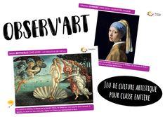 Observ'Art : un jeu pour découvrir les chefs d'œuvres artistiques à la manière des BrainBox