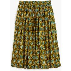 J.Crew Ratti® elephant print skirt ($70) ❤ liked on Polyvore featuring skirts, long skirts, lined skirt, long print skirt, long patterned skirt and print skirt
