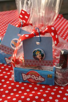 Wonder Woman treat bags for the ladies/ Finding the Extraordinary in the Ordinary