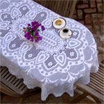 Leipzig Oval Tablecloth Pattern in Filet Crochet (FT419)