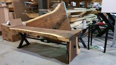 unique custom designed bench for entry hall