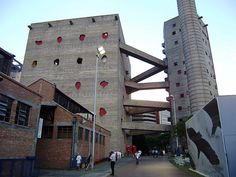 Sao Paulo (Brasil) – Sesc Pompeia - Cultural centre  Built: 1977  Architect: Lina Bo Bardi  Magnificent use of concrete - check out interior sections on the net. Massive!