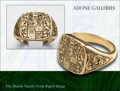 Lady's 14K gold Family Crest ring