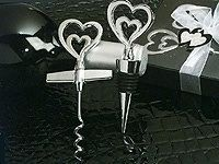 Two Hearts Are Better Than One Wine Opener, Stopper Combination Wedding Favors