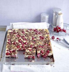 Schokoladen-Kirsch-Streuselkuchen Rezept Recipe for chocolate cherry crumble cake for eating and dri
