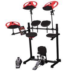 Enterprises ddrum DD Beta XP Electronic Drum Kit w/ Dual Zone Snare Drum, Bass Drum Pad & Pedal (XP, Addons, Upgraded Module), Black