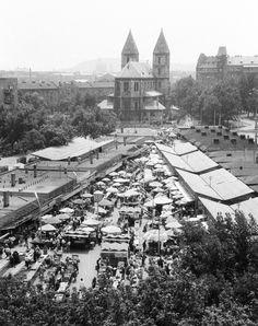 1976, Élmunkás tér, a piac, 13. kerület