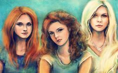 Ginny, Hermione, and Luna. I like this.