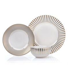 www.zgallerie.com Item: Luna Dinnerware - Sets of 4 Color: Gold Price: $39.80-$51.80