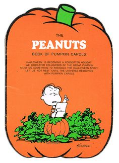 Charlie Brown Great Pumpkin song book