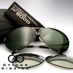 Novidade! Já temos este clássico modelo de óculos de sol da Porshe, o P8478 estilo Aviador! Com dois pares de lentes pra você trocar facilmente e armação em titanium levíssima! Usado por celebridades como Usher, Jennifer Lopez, Brad Pitt entre outros... saiba mais http://oticasribeira.wordpress.com/2014/04/15/incrivel-oculos-de-sol-porshe-estilo-aviador/  Enviamos para todo o Brasil, deixe sua mensagem!