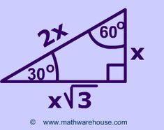 This pin shows the Special Triangle 30-60-90.