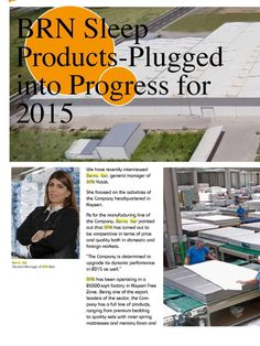 BRN Sleep Products - Plugged into Progress for 2015
