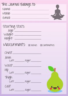 This journal belongs to fitness journal printable!