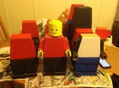 Lego man out of cardboard