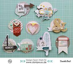 DIY 3D Scrapbooking Embellishments selber machen |ein #MitmachMontag Tutorial von www.danipeuss.de