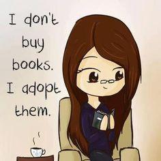 I don't buy books...