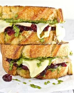 Turkey, Pesto and Cranberry Melt| The Hopeless Housewife