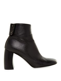 Curved block-heel faux-leather ankle boots | Stella McCartney | MATCHESFASHION.COM UK