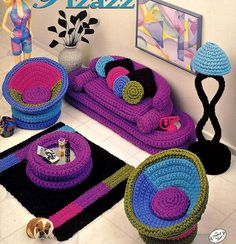 furnish a doll house with crochet!