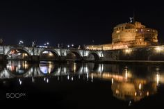 Rome Castle of holy angel by nigth - Press F11 and M to See on FULL SCREEN