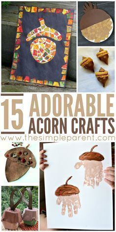 Get ready for fall activities with these adorable acorn crafts for kids! These hands on activities for kids are fun ways to celebrate the arrival of autumn!