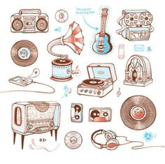 music, guitar, and drawing image