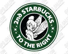 Tinkerbell Starbucks Disney Fairy Coffee SVG Cut File Set