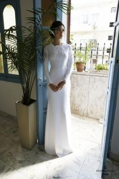 Modest wedding gowns 2016 oren (2)