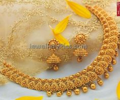 antique chocker with floral gold bits