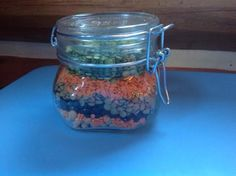 Homemade gift: Seasoned Bean and Lentil Soup in a Jar