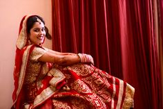 Indian Bridal Outfit Red and Gold