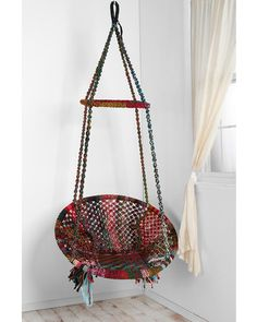 This swinging chair is fun for kids and adults alike! Buy it here: http://www.bhg.com/shop/urban-outfitters-exclusives-marrakech-swing-chair-p5022497482a797dc8953b536.html?socsrc=bhgpin110112shopswingchair
