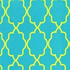 Michael Miller Moroccan Lattice Blue Lime
