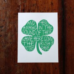 Here Come The Irish Shamrock Print by sbdesignandprint on Etsy, $15.00