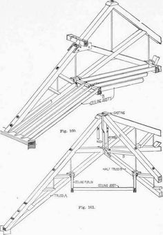 A cross section of a web truss and a storage truss build for Prefab trusses prices