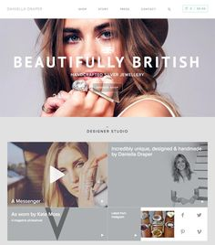 Daniella Draper - Inspirational Shops - The Best eCommerce Web Designs