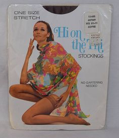 Vintage 60s Scandale France pair of nylon stockings