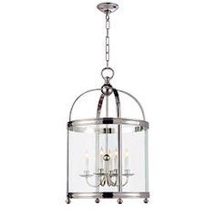 Chart House E.F. Chapman Medium Edwardian Arch Top Lantern in Polished Nickel by Visual Comfort CHC3423PN
