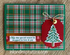 2019 Stampin' Up! Holiday Catalog Launch- Wrapped In Plaid (ink and inspirations) 2019 Stampin' Up! Holiday Catalog Launch- Wrapped In Plaid Stampin Up Christmas, Christmas Cards To Make, Plaid Christmas, Handmade Christmas, Holiday Cards, Christmas 2019, Bday Cards, Stampin Up Catalog, Stamping Up Cards