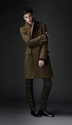 Military. Burberry Prorsum Pre Fall 2010 I don't think I got the gold buttons on mine!