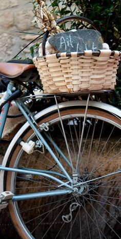 Love a basket on a bike!  Want one for next spring!