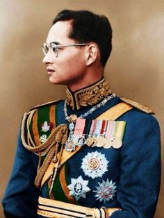 The King of Thailand, King Bhumibol Adulyadej (Rama IX). (born 5th Dec, 1927) He became King on 9 June 1946 after the death of his brother, King Ananda Mahidol (Rama VIII) and is now the longest reigning monarch in the world. His coronation ceremony was on 5th May, 1950. He initiated countless development projects for Thailand.