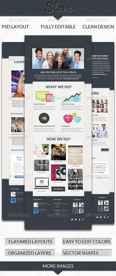 Stone Email Template - GraphicRiver Item for Sale