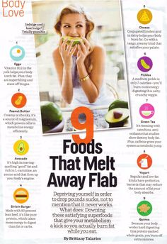 9 Foods that melt away flab   #health #foods