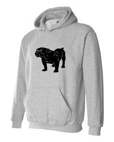 cab4b1c3cbd8b Bulldog Hoodie Unisex sizes S M L Xl 2Xl 3Xl Comfy Hooded Dog Sweatshirt  Grey Hoodie