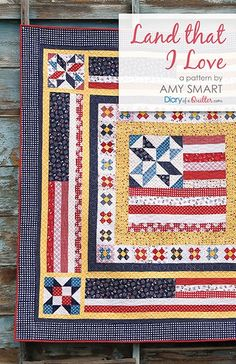 Add another skill - sewing together quilt block on point - with another classic patchwork design. Farmhouse Four-Patch Quilt tutorial by Amy Smart. Amy Smart, Quilt Baby, Flying Geese, Patch Quilt, Quilting Projects, Quilting Designs, Quilt Design, Quilting Ideas, American Flag Quilt