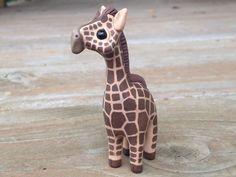 Giraffe: Handmade miniature polymer clay animal figure (55.00 USD) by AnimalitoClay